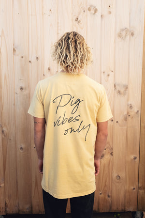 YEAR OF THE PIG TEE YELLOW - OLAS SUPPLY CO.