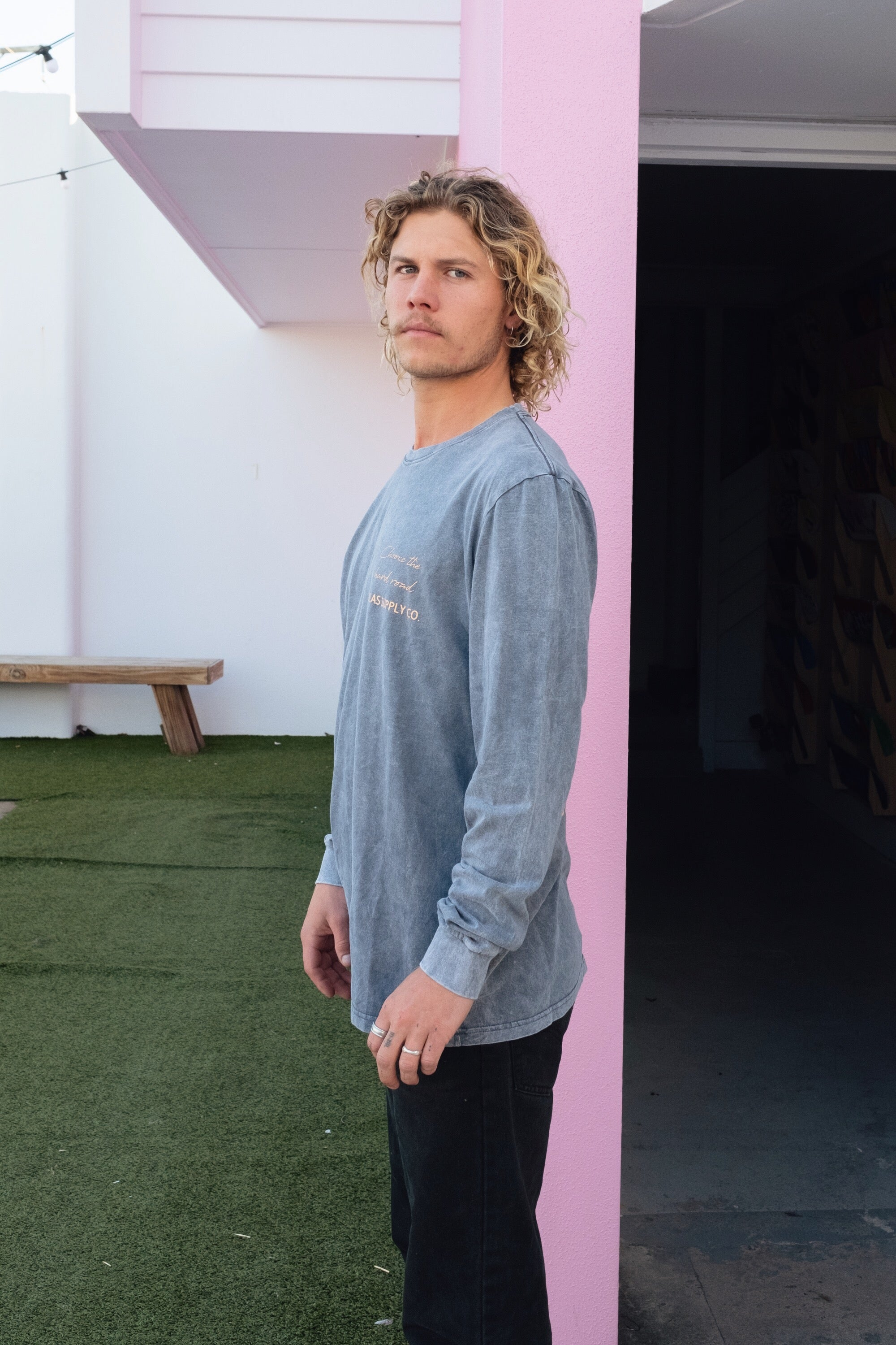 CANGGU LONG SLEEVE TEE CHARCOAL - OLAS SUPPLY CO.
