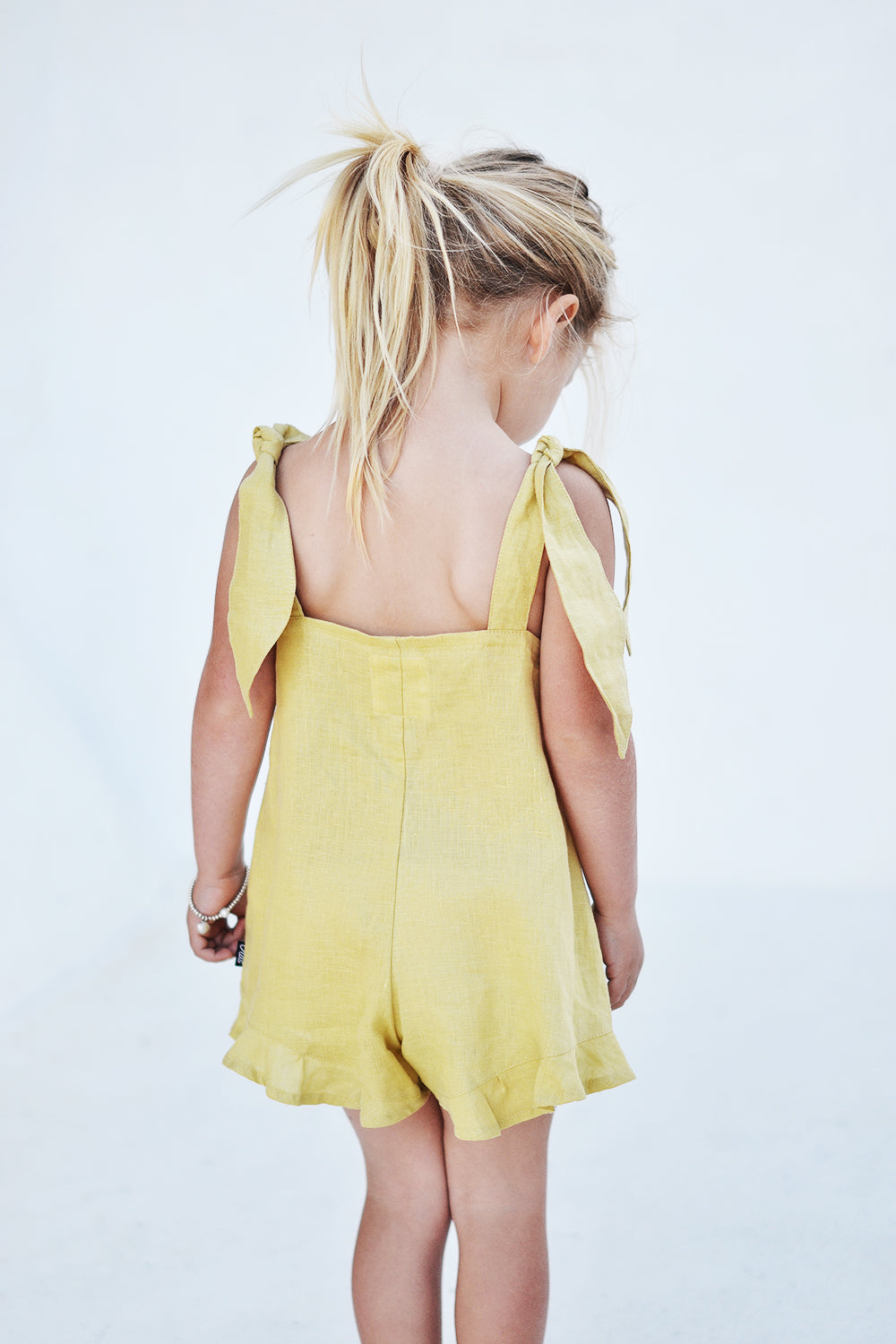 SUNFLOWER MINI PLAYSUIT - OLAS SUPPLY CO.