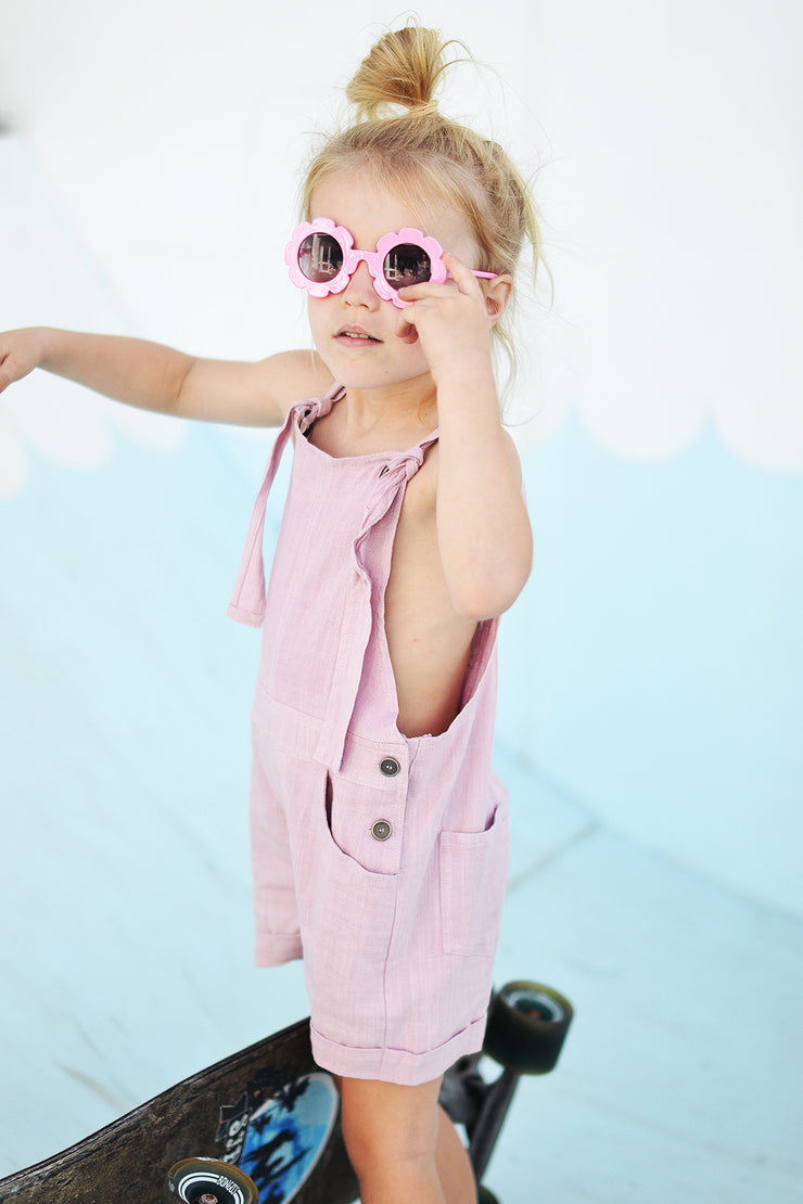 EMILY MINI OVERALLS LILAC - OLAS SUPPLY CO.