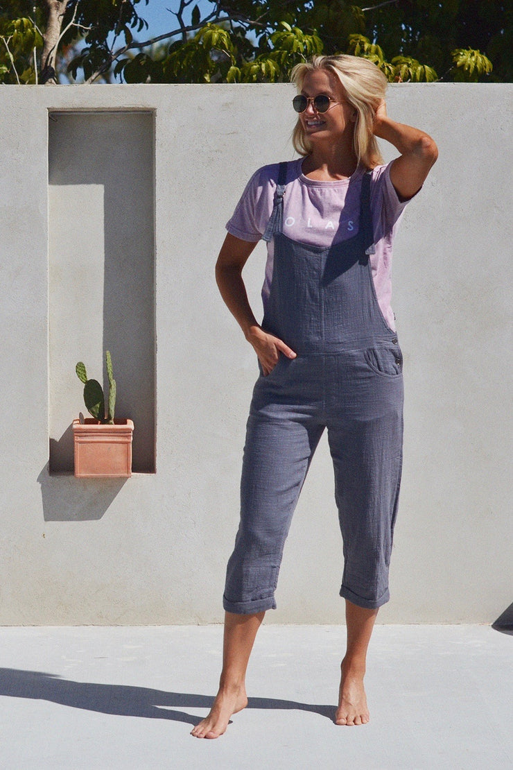 BAREFOOT OVERALLS CHARCOAL - OLAS SUPPLY CO.