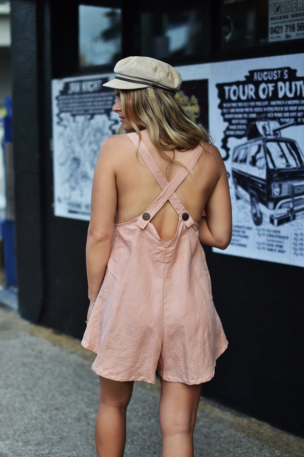 SWAY PLAYSUIT PEACH - OLAS SUPPLY CO.