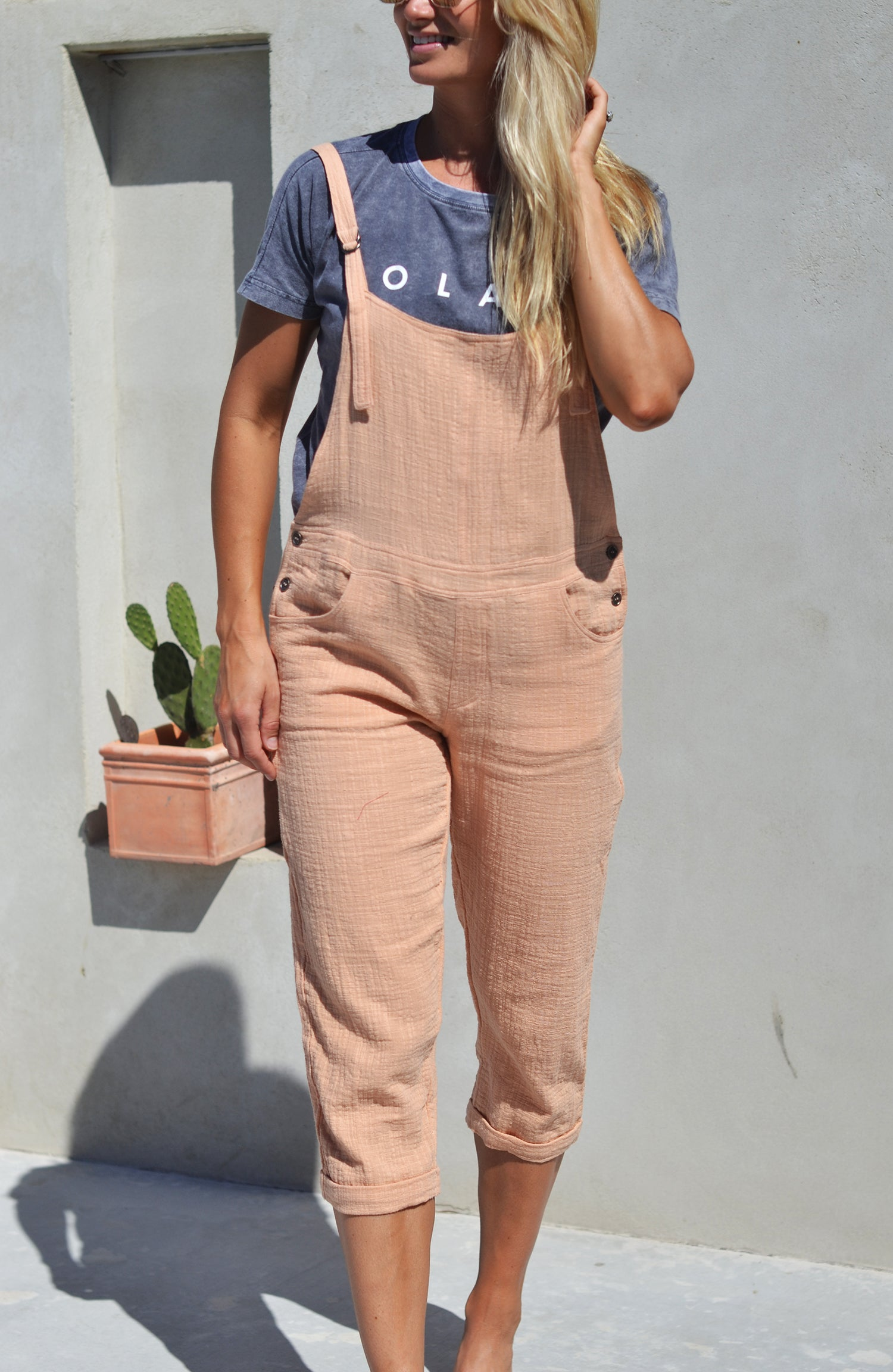 BAREFOOT OVERALLS PEACH - OLAS SUPPLY CO.