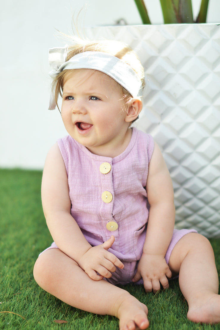 FRANKIE ROMPER LILAC - OLAS SUPPLY CO.
