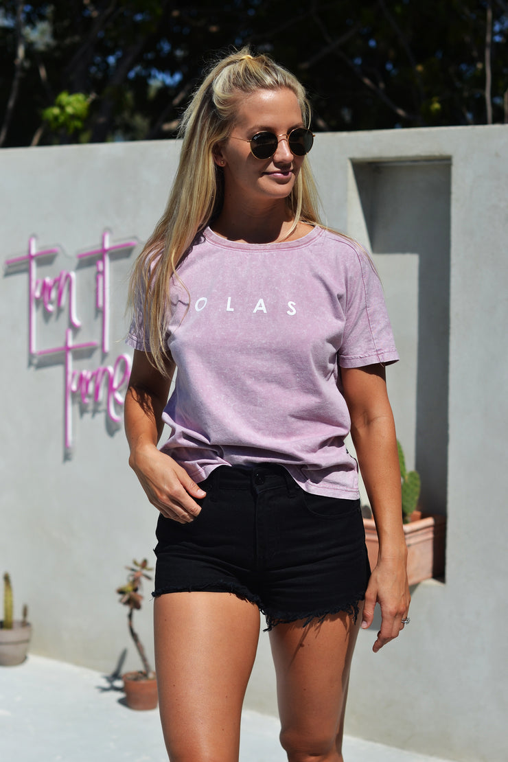 BASIC TEE LILAC - OLAS SUPPLY CO.