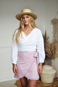 MILA WRAP SKIRT LILAC - OLAS SUPPLY CO.