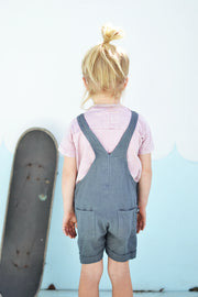 EMILY MINI OVERALLS CHARCOAL - OLAS SUPPLY CO.