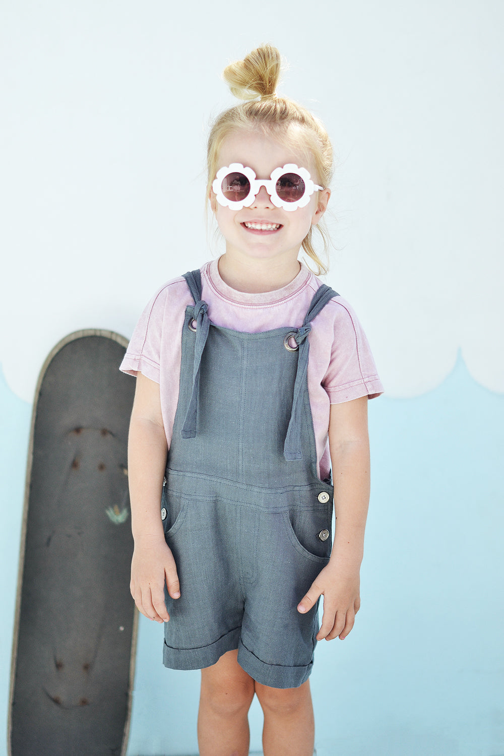 EMILY MINI OVERALLS CHARCOAL