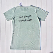 LIVE SIMPLE TEE SAGE - OLAS SUPPLY CO.