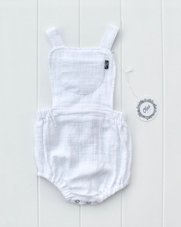 SAILOR ROMPER WHITE - OLAS SUPPLY CO.