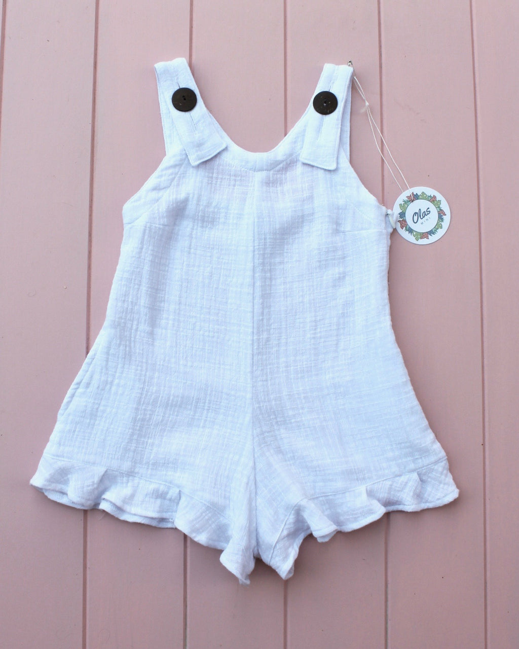 SANDY MINI PLAYSUIT WHITE