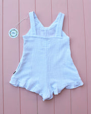 SANDY MINI PLAYSUIT WHITE - OLAS SUPPLY CO.