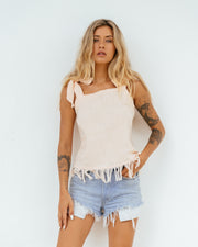 LOTTI BUTTON BACK TOP
