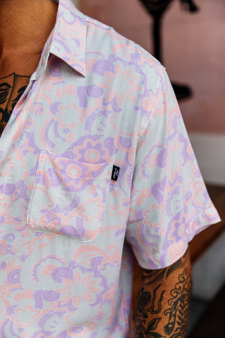 VORTEX BUTTON UP PASTEL