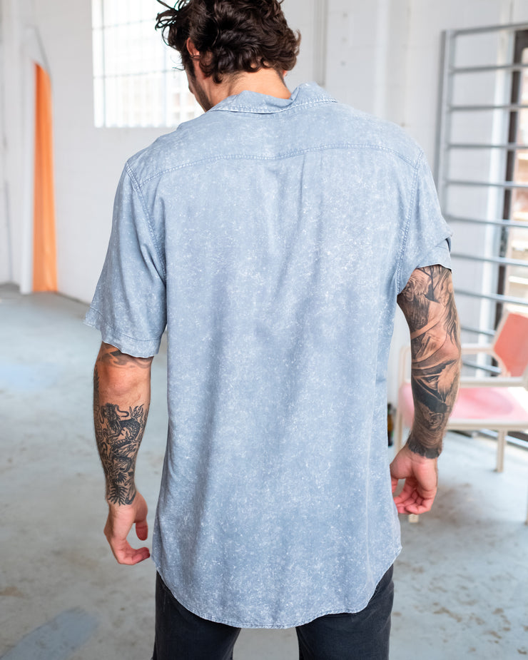 STAPLE BUTTON UP CHARCOAL - OLAS SUPPLY CO.