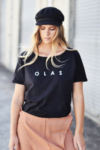BASIC TEE FADED BLACK - OLAS SUPPLY CO.