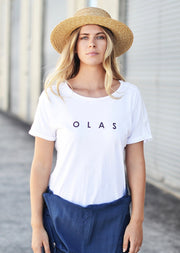 BASIC TEE WHITE - OLAS SUPPLY CO.