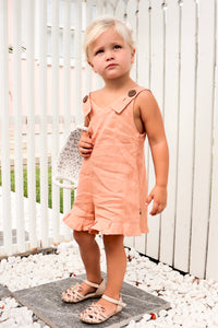 SANDY MINI PLAYSUIT PEACH - OLAS SUPPLY CO.