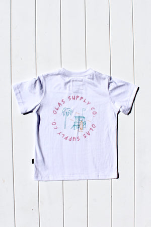CALI MINI TEE WHITE - OLAS SUPPLY CO.