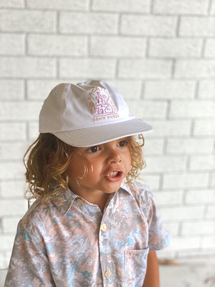 MINI WHITE NYLON HAT