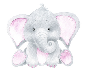 Personalised Baby Pink Elephant cuddle blanket