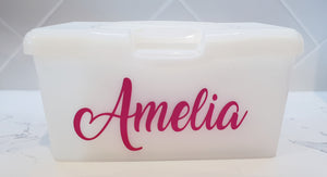 Personalised Baby Wipes Container