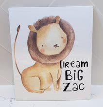 Lion Personalised Canvas Panel