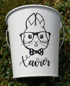 White Easter Bucket