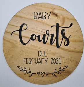 Pregnancy Announcement Disc