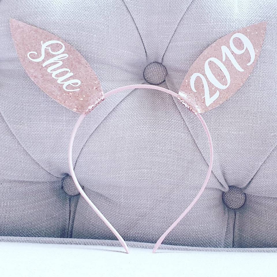 Rose Gold Bunny Personalised Bunny Ears