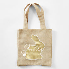 Gold Bunny Hessian Bag