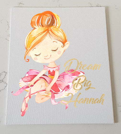 Ballerina Personalised Canvas Panel