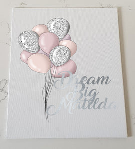 Balloon Personalised Canvas Panel