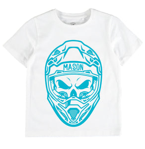 Biker T Pink or Blue colored print