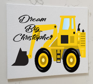Digger Personalised Canvas Panel