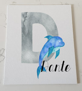 Letter D Personalised Canvas Panel