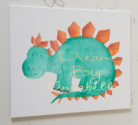 Stegasaurus Personalised Canvas Panel
