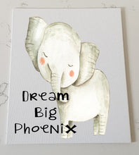 Elephant Personalised Canvas Panel