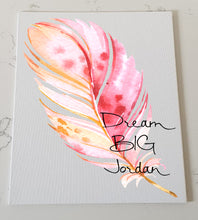 Feather Personalised Canvas Panel