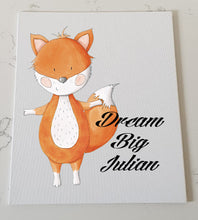 Fox Personalised Canvas Panel