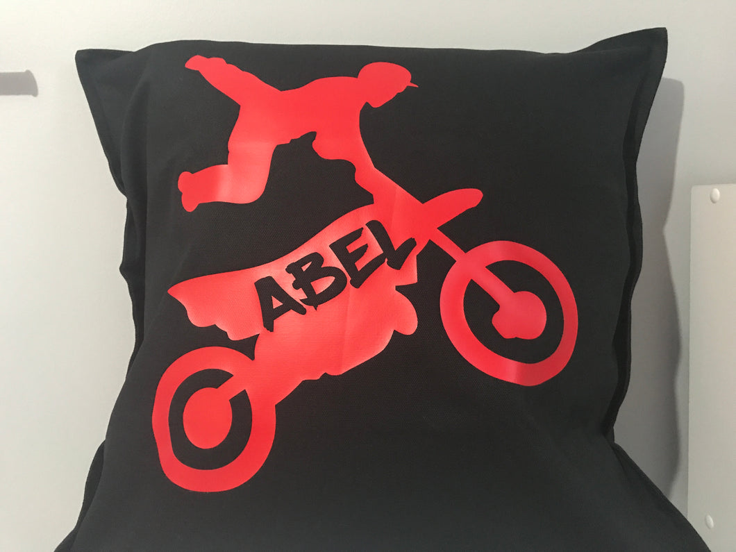 Dirt Bike Rider Cushion
