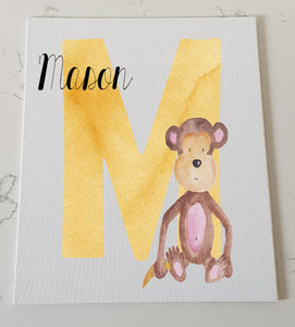 Letter M Personalised Canvas Panel