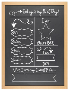 First Day of... Chalkboard - Option 1