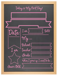 First Day of... Chalkboard - Option 3