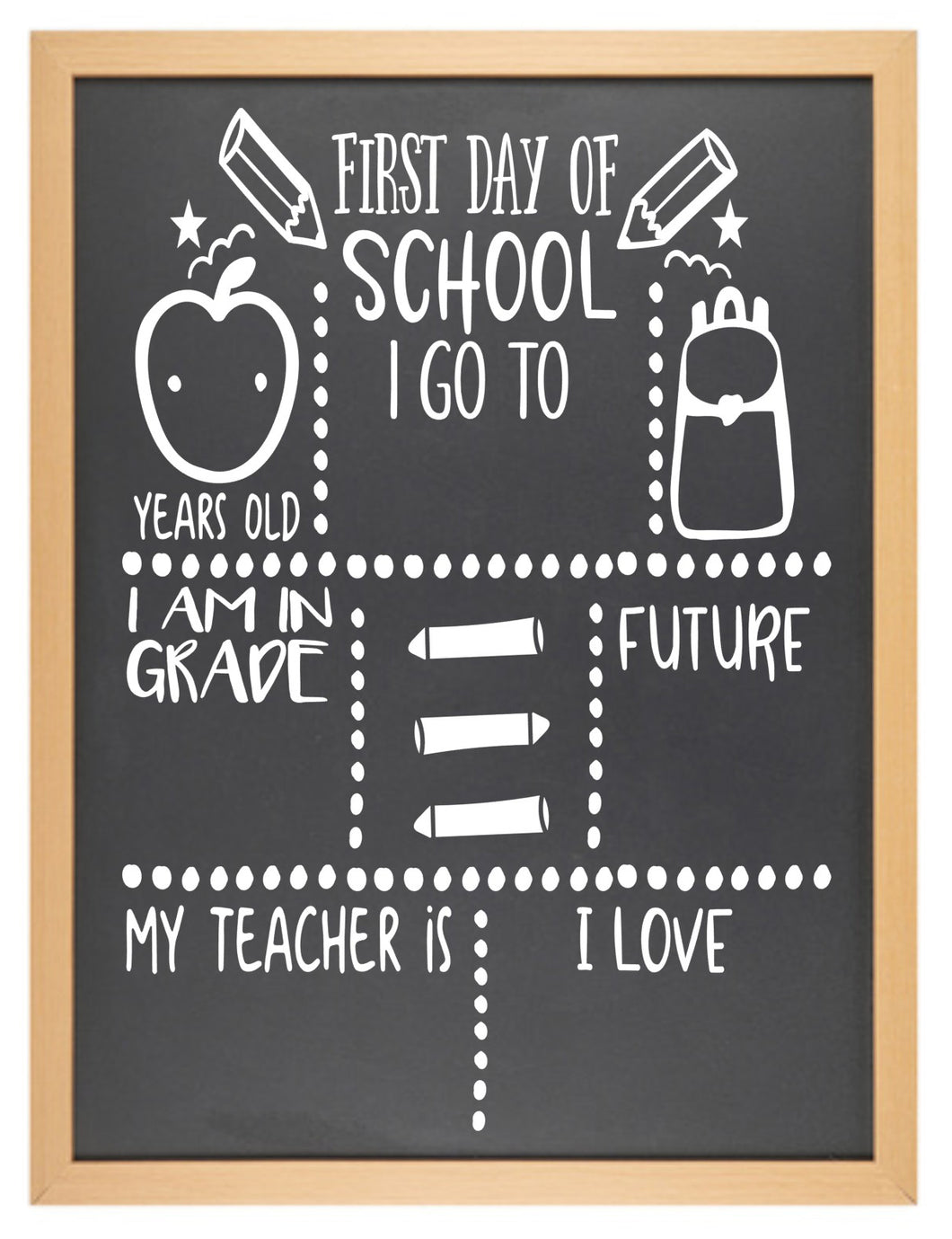 First Day of... Chalkboard - Option 5