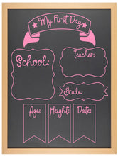 First Day of... Chalkboard - Option 6