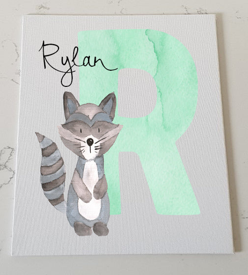 Letter R Personalised Canvas Panel