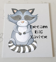 Raccoon Personalised Canvas Panel