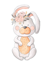 Personalised Bunny Flower Large Blanket