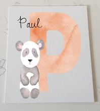 Letter P Personalised Canvas Panel